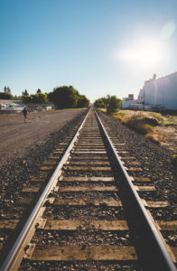 Train Tracks in Great Falls, Montana