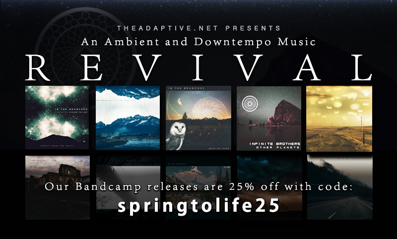25% off all releases on theadaptive.bandcamp.com with code 'springtolife25'