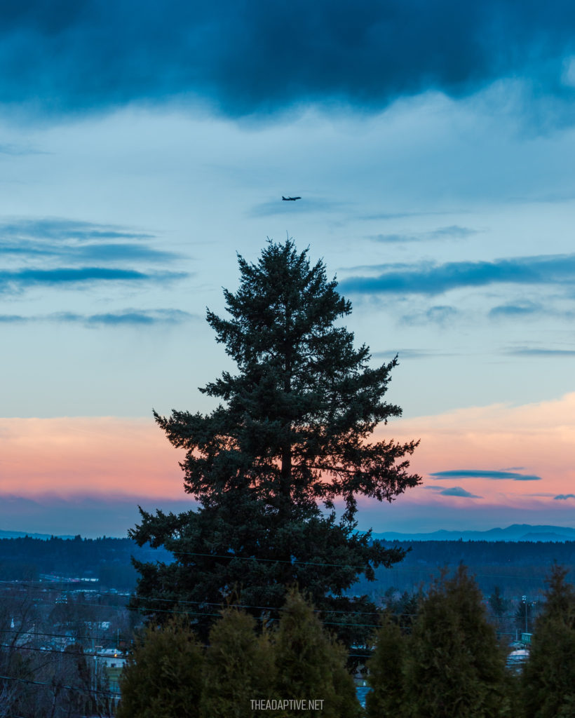Sunset at Portland International Airport. Photo by Shane Cotee.